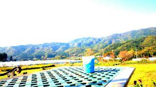 国見山を眺めながら